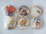 Новогодние украшения шары  декупаж блеск 10 см, фото 3
