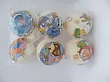Новогодние украшения шары  декупаж блеск 10 см, фото 4