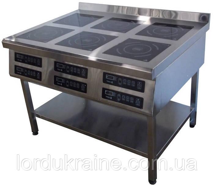 Индукционная плита 6-ти конфорочная (1177х900 мм) напольная 3,5 кВт ТМ Tehma