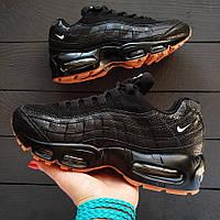 Кросівки жіночі чорні із сіткою та повітряною подушкою Nike Air Max 95