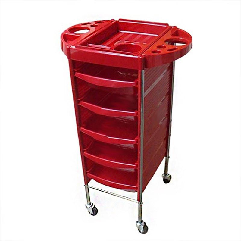 Парикмахерская тележка T-0Q6 (красная)