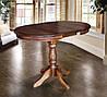Круглый обеденный стол ЧУМАК 2 темный орех, фото 2