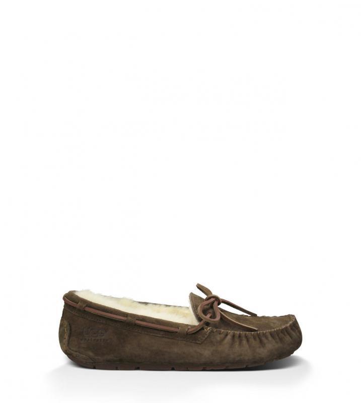 Женские зимние мокасины UGG Dakota Slipper - Chocolate дакота коричневый
