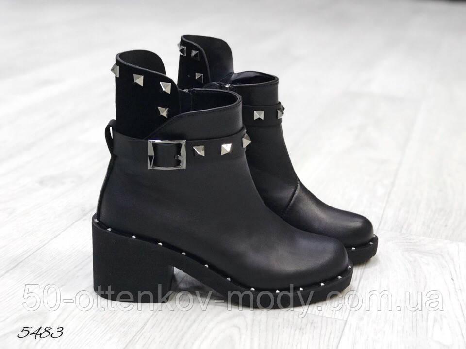 Женские ботинки демисезонные Valentino натуральная кожа и замш