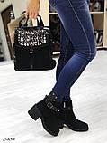 Женские ботинки демисезонные Valentino натуральная кожа и замш, фото 5