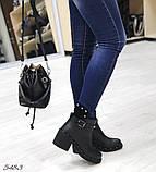 Женские ботинки демисезонные Valentino натуральная кожа и замш, фото 2