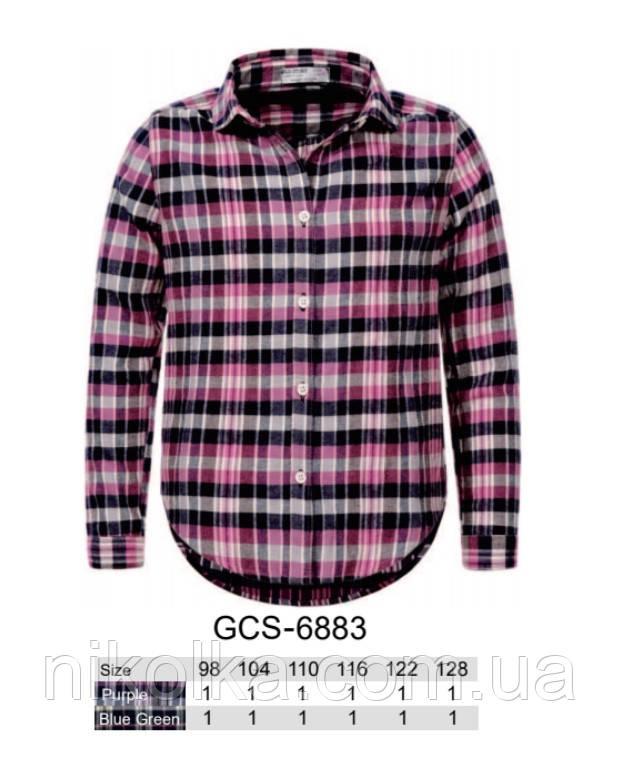 Рубашка для девочек Glo-story, 98-128 рр. Арт.GCS-6883