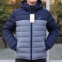 Зимняя короткая спортивная куртка в стиле Nike с капюшоном 42,44 размер