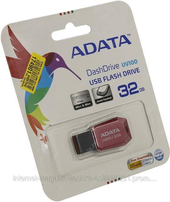 Флешка 32 gb A-DATA AUV 100  Red USB 2.0