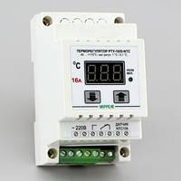 Терморегулятор на DIN-рейку цифровой одноканальный (-40°...+110°, реле 16А) РТУ-16/D-NTC, фото 1