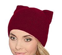 """Женская шапка """"Киса"""" двойная вязка"""