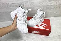 Ботинки найк лунар форс 1 дакбут женские зимние белые (реплика) Nike Lunar Force 1 Duckboot White Winter