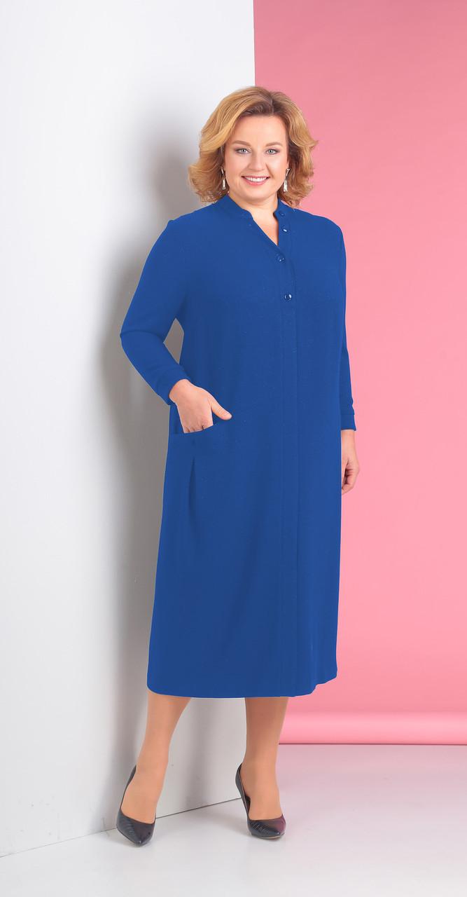 Платье Novella Sharm-3115-1 белорусский трикотаж, синий, 60