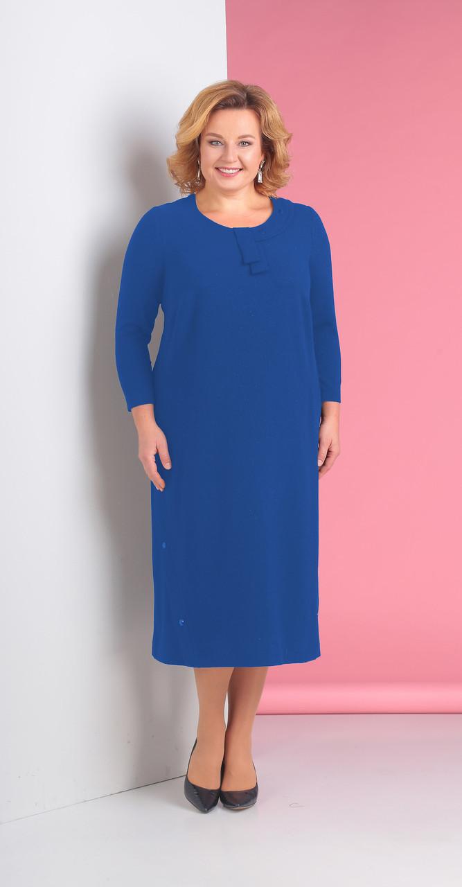 Платье Novella Sharm-3117-1 белорусский трикотаж, синий, 64