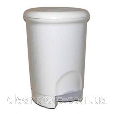 Корзина для мусора пластиковая с педалью 14л, фото 2