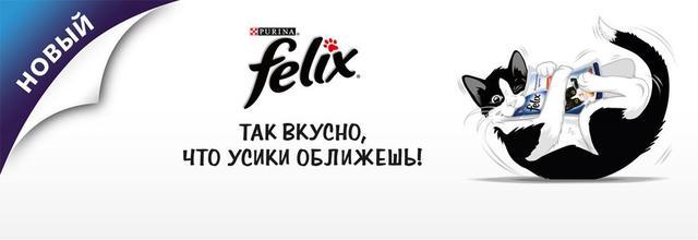 Влажный корм для кошек Felix Fantastic ( Феликс Фантастик ) 100 гр с лососем в желе, пауч .