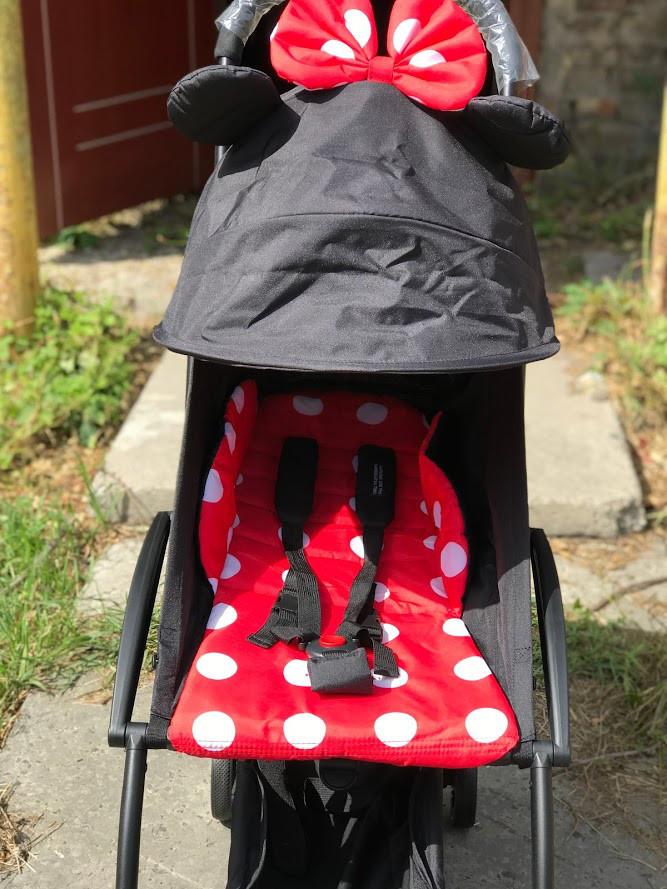 Детская коляска Yoya 175 А+ минни на белой и черной раме