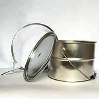 Відро Евроведро металеве з кришкою під обруч 5л, фото 1