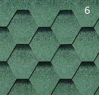 Битумная черепица Гибкая РуфШилд (RoofShield) Стандарт Зеленый с оттенением