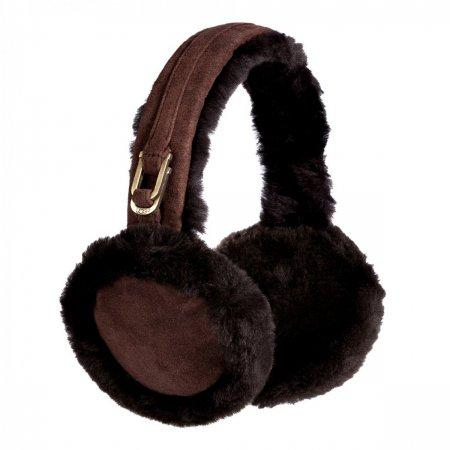 UGG Double u Logo EARMUFFS CHOCOLATE (.)