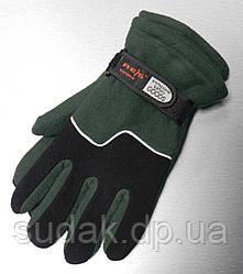Перчатки флисовые REIS зеленые