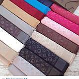 Женский шарф палантин с логотипом Louis Vuitton много цвеов, фото 7