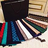 Женский шарф палантин с логотипом Louis Vuitton много цвеов, фото 9