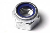 Гайка нержавеющая М6 DIN 985 низкая самоконтрящаяся с нейлоновым кольцом