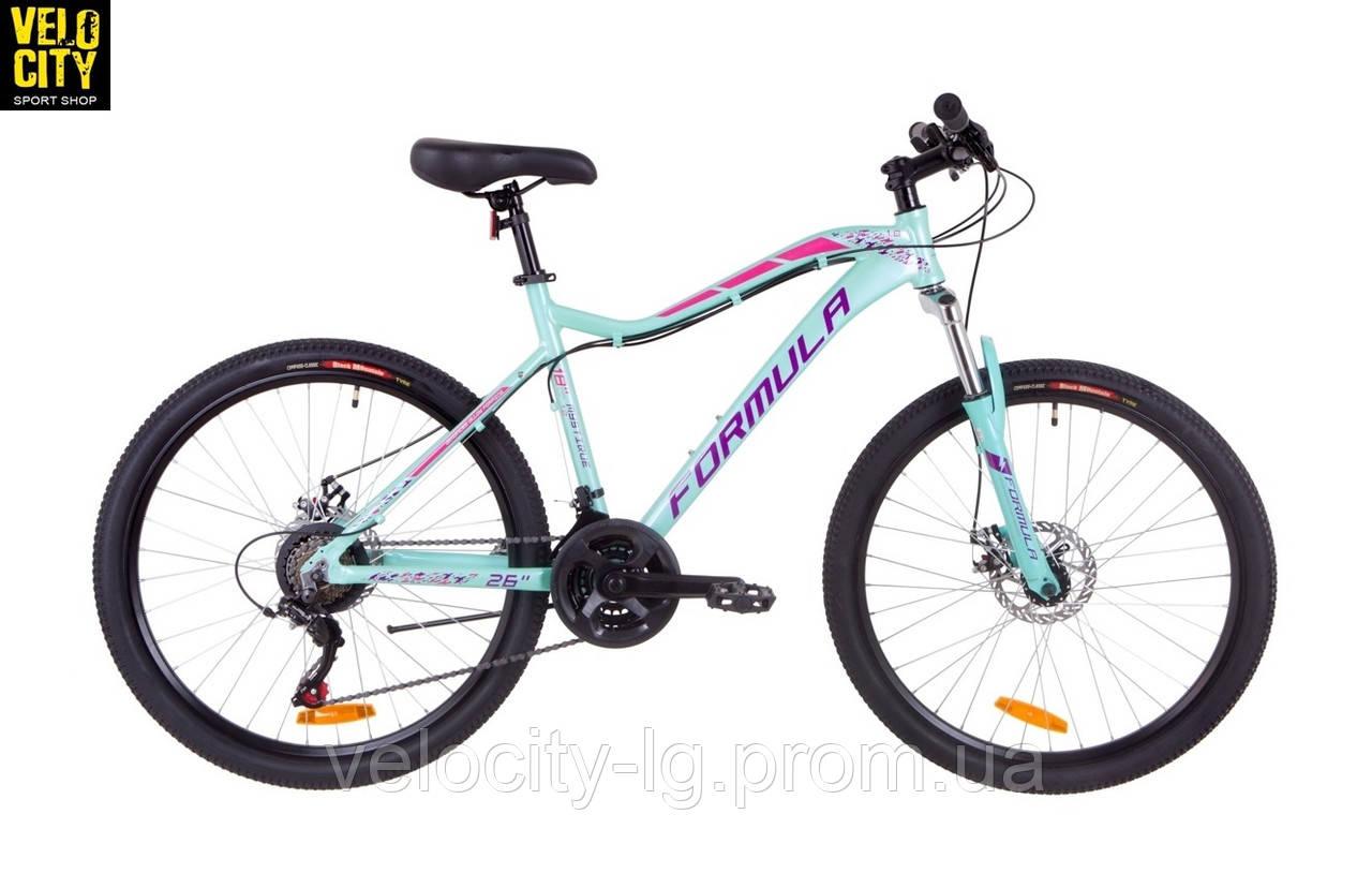 """Женский велосипед 26"""" Formula MYSTIQUE 1.0 AM DD 2019 бирюзовый, фото 1"""