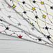 Ткань польская хлопковая, гирлянда из серо-розовых звезд на белом, фото 5