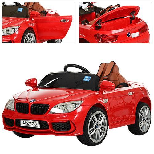 Детский электромобиль BMW M 2773 EBLR-3, красный Гарантия качества Быстрая доставка