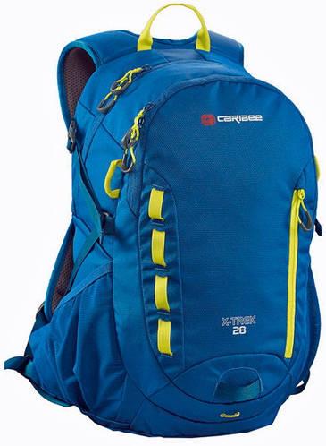 Качественный, городской рюкзак 28 л. Caribee X-Trek 28 Sirius Blue/Hyper Yellow, 921294 синий