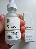 Сыворотка  для проблемной кожи The Ordinary Niacinamide 10% + Zinc PCA 1%, 30ml - сужает поры, выравнивает тон