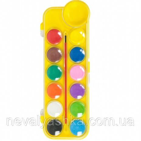 Краски акварельные 12 цветов акварельні фарби Zibi, 009511
