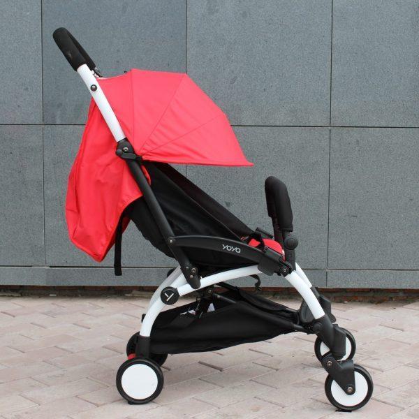 Детская коляска Yoya 175 A+ красный цвет, рама белая или черная. Лимитированая серия. Четырехярусный капор