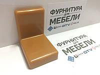 Уголок металлический  Регулируемый S=1,4 мм+ пластиковая накладка 38*50*52 мм: ОЛЬХА, фото 1