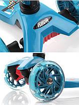 Трехколесный Самокат Nitro Nova - Голубой / Складывающиеся ручка руля, фото 3