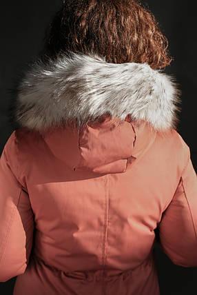 Женская зимняя куртка,парка MUMU с пышным мехом,терракот , фото 2