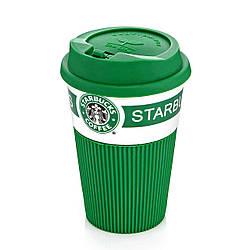 Чашка керамическая Starbucks 008 зеленая