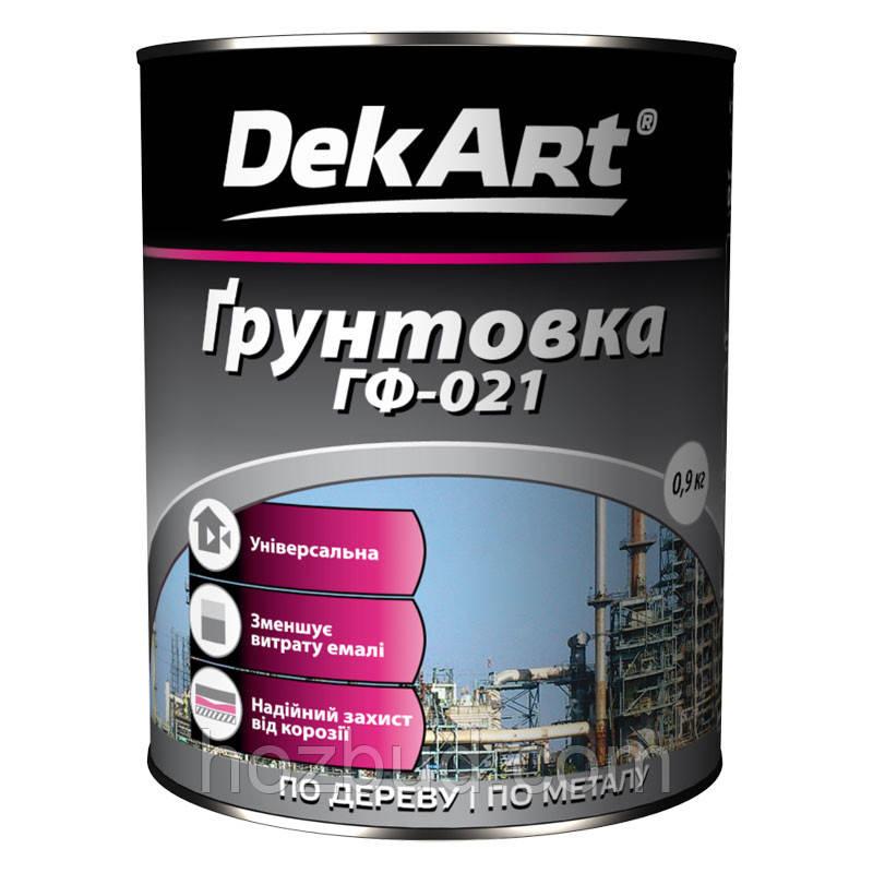 Грунтовка ГФ-021 DekАrt (сіра) 0,9 кг