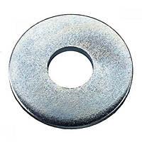 Шайба увеличенная М6 DIN 9021 Цинк, Шайба, 6, Цинк - 100 шт/упаковка, DIN 9021, подвесы + ZipLock, Плоская круглая