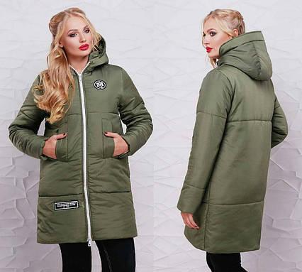 001af6a64d8 Женская тёплая куртка на синтепоне в больших размерах 018