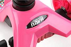 Трехколесный Самокат Nitro Nova - Розовый / Складывающиеся ручка руля, фото 3