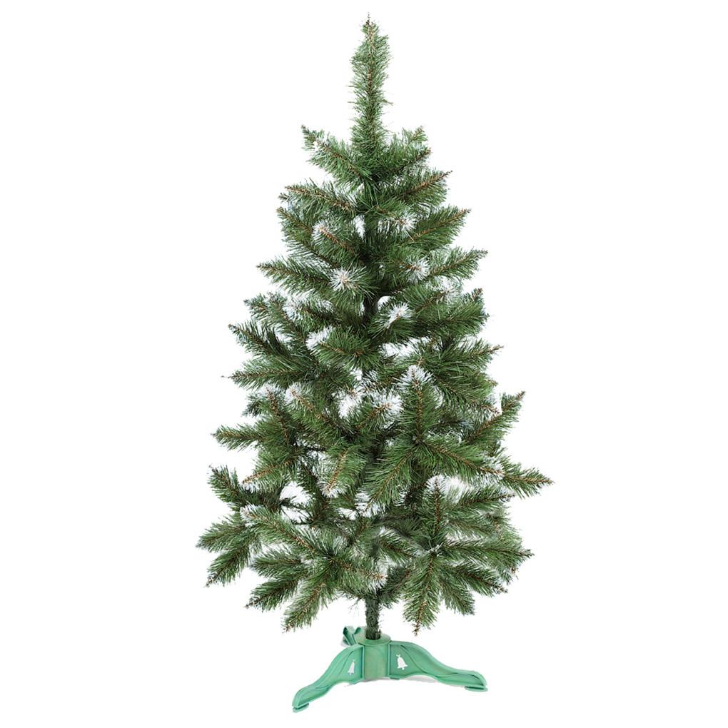 Ель искусственная новогодняя Сказка Зеленая с Белыми кончиками 130см  БК-1,30