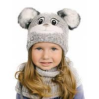 Шапка Зайка детская (46-50) для девочки