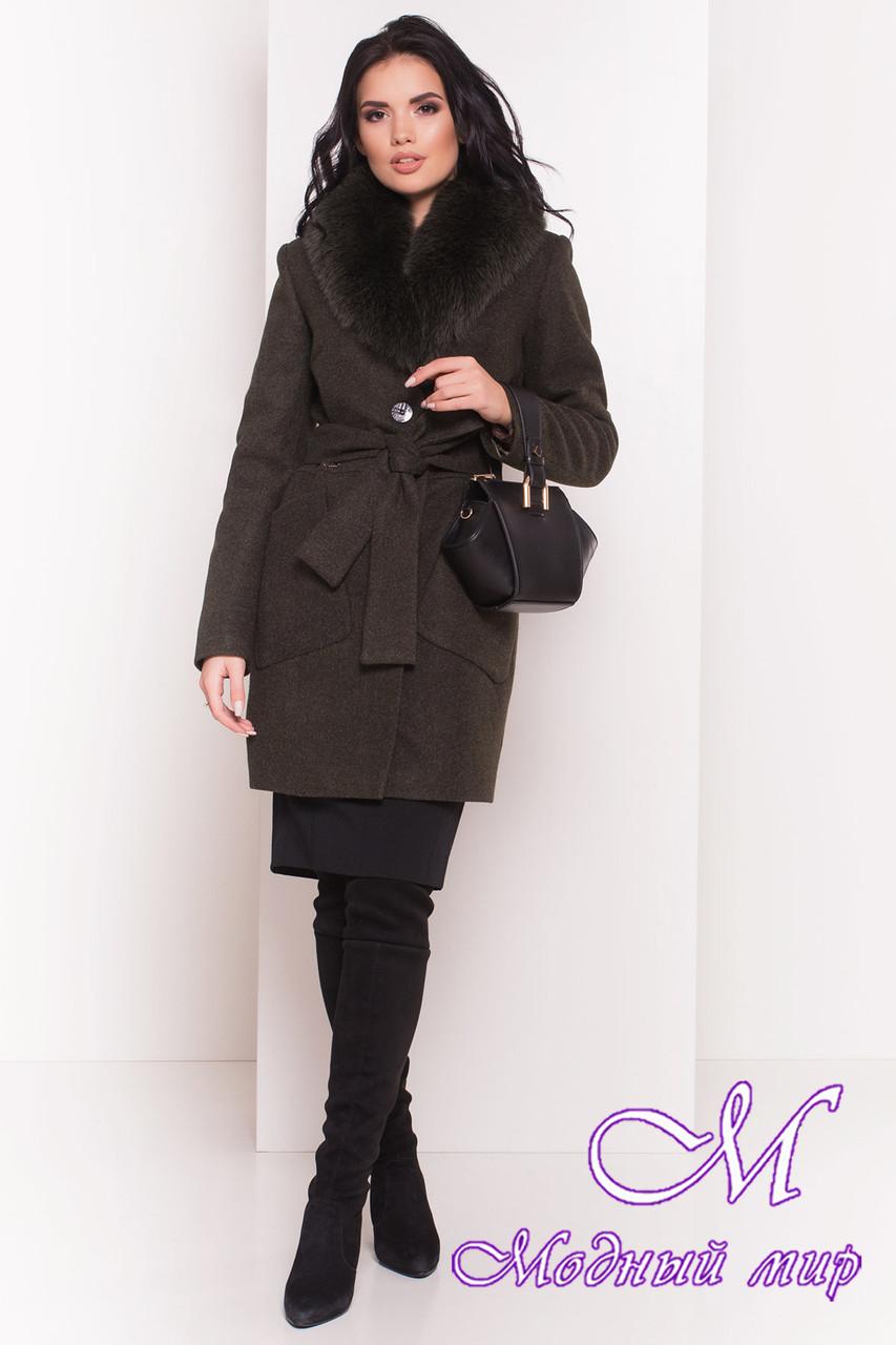 Женское зимнее пальто с мехом (р. S, М, L) арт. Габриэлла 5695 - 38020