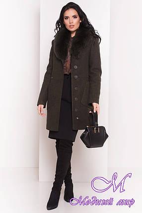 Женское зимнее пальто с мехом (р. S, М, L) арт. Габриэлла 5695 - 38020, фото 2