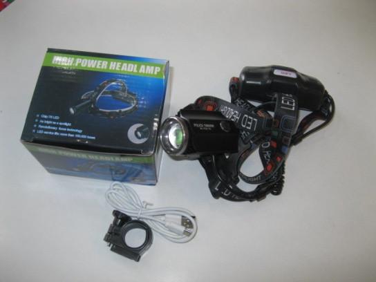 Налобный фонарик BL-F02-T6 с крепление на велосипед