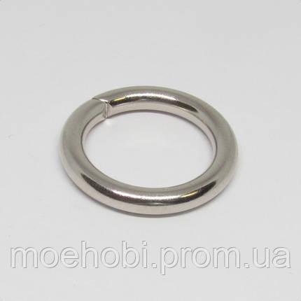 Кольца для сумок (20мм) никель,  4341, фото 2