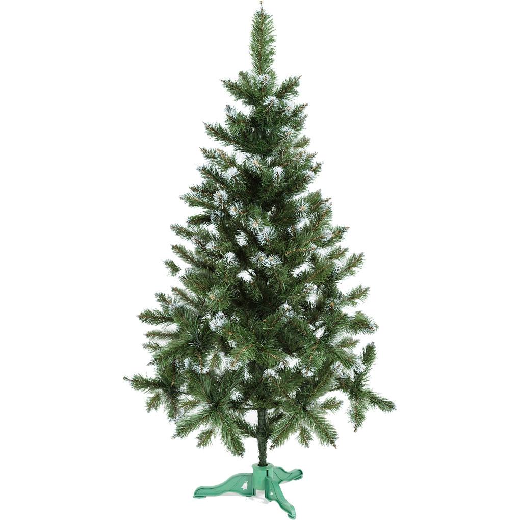 Ель искусственная новогодняя Сказка Зеленая с Белыми кончиками 180см БК-1,80